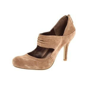 NEW! NINE WEST Genuine Suede Tan Mary Jane Heels